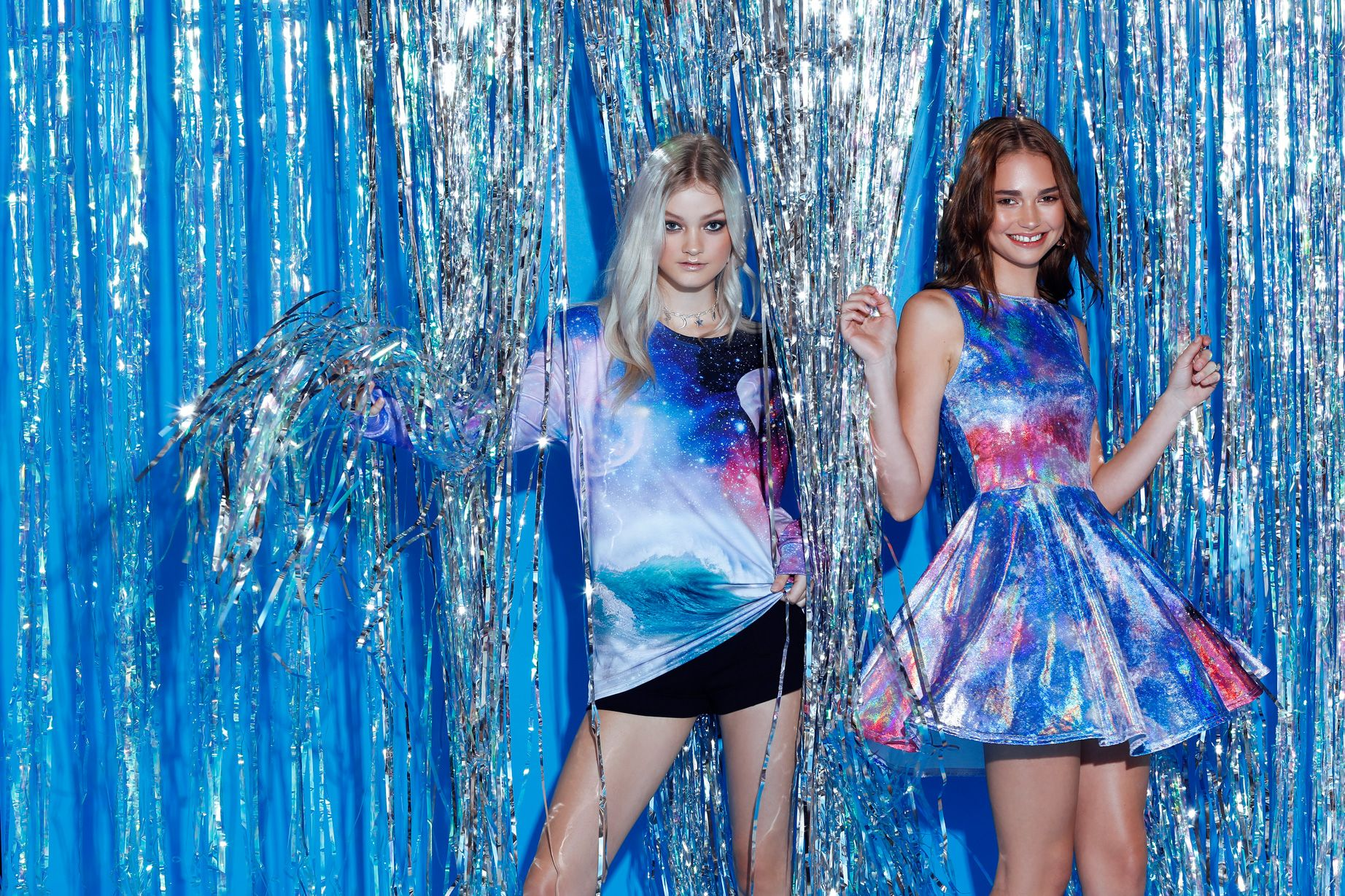 aacb20bd689c82 Galaxy Wave Long Sleeve BFT – 7 DAY UNLIMITED ($80AUD), Galaxy Angel Iced  Velvet Princess Skater Dress – LIMITED ($99AUD) by BlackMilk Clothing