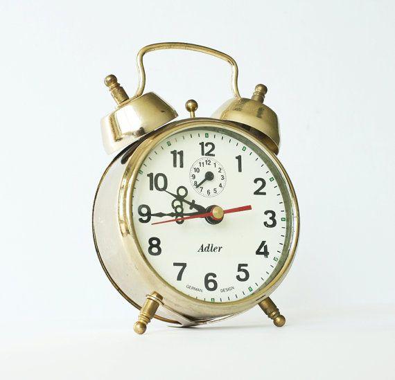Vintage Mechanical Alarm Clock Adler German Design Etsy German Design Clock Alarm Clock