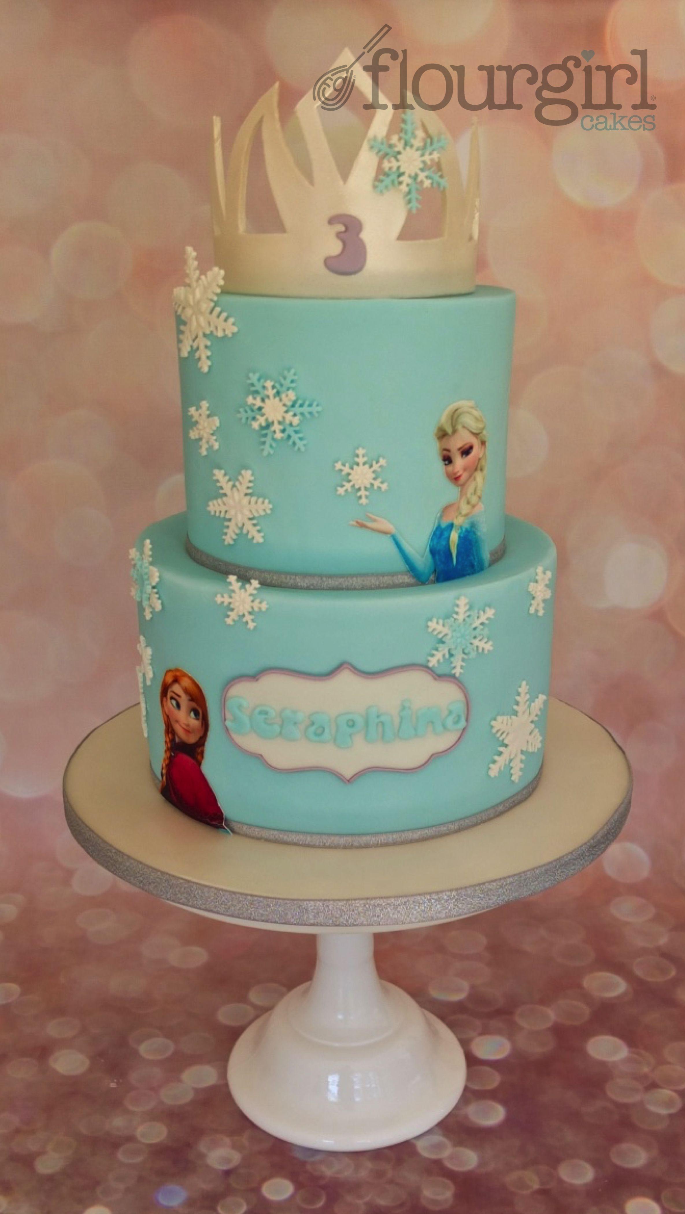 Frozen Cake Elsa and Anna Cake Frozen cake Tiara Frozen Birthday
