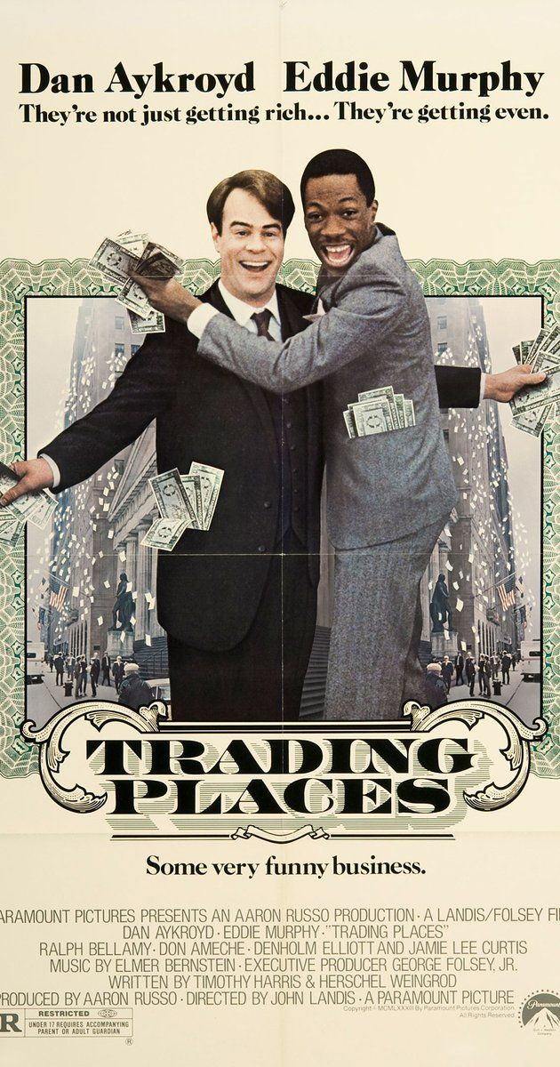 Directed By John Landis With Eddie Murphy Dan Aykroyd Ralph Bellamy Don Ameche A Snobbish Investor And Trading Places Eddie Murphy Classic Movie Posters