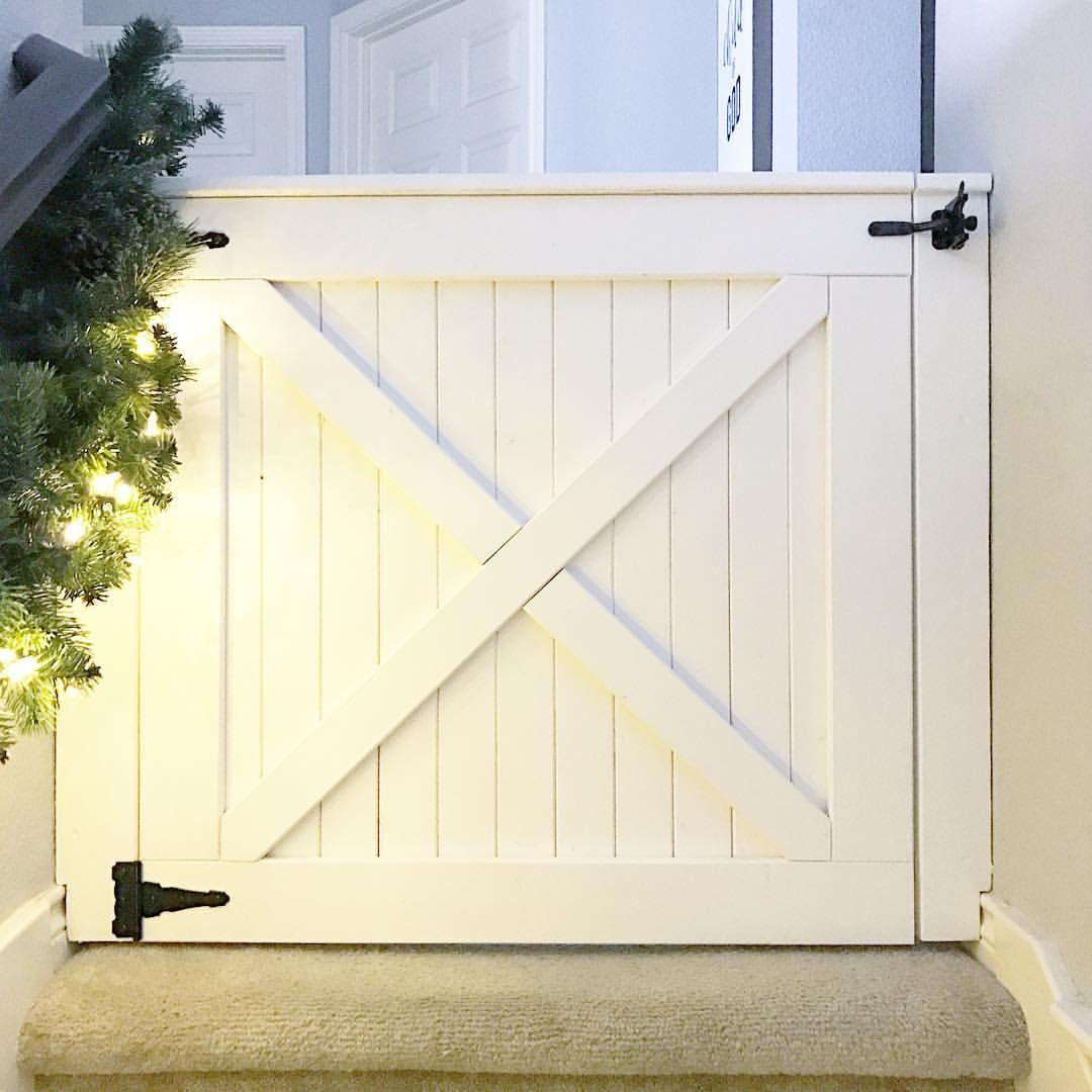 Barn Door Baby Gate For Top Of The Stairs See This