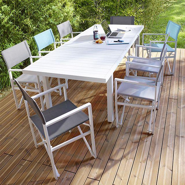Ideal Pour Les Grandes Familles Ce Salon De Jardin Batang En Aluminium Peut Accueillir 6 A 10 Couverts Grace A Table De Jardin Salon De Detente Canape Jardin