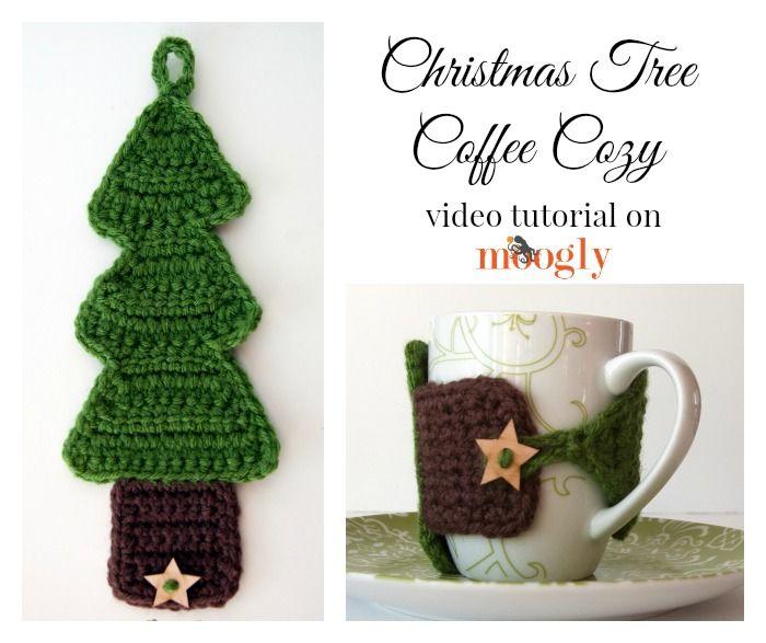 Crochet Video Tutorial: #Christmas Tree Coffee Cozy!   Holiday ...