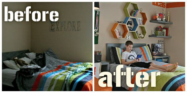 cool teen boys bedroom makeover. Interesting Boys Cool Teen BedRoom Makeover U2013 Look At The Hexigonsgreat For More Than Just  Boys In Boys Bedroom M
