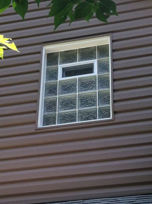 Bathroom Windows Block glass block bathroom windows in st. louis, privacy glass windows