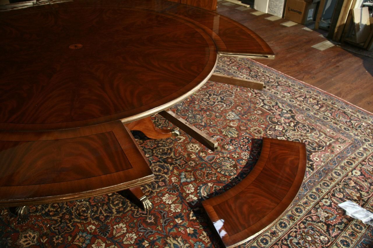 Perimeter Table Round Dining Table w Perimeter Leaves Round