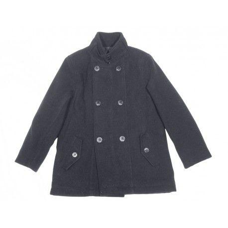 168c1453b Los niños también pueden ir guapísimos con este chaquetón marinero de paño  azul oscuro en Abrigos