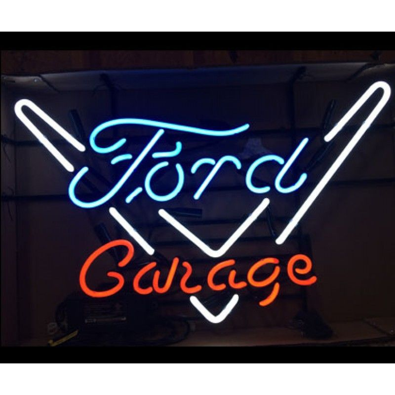 Ford Garage Signs : Ford logo and garage neon sign inch width
