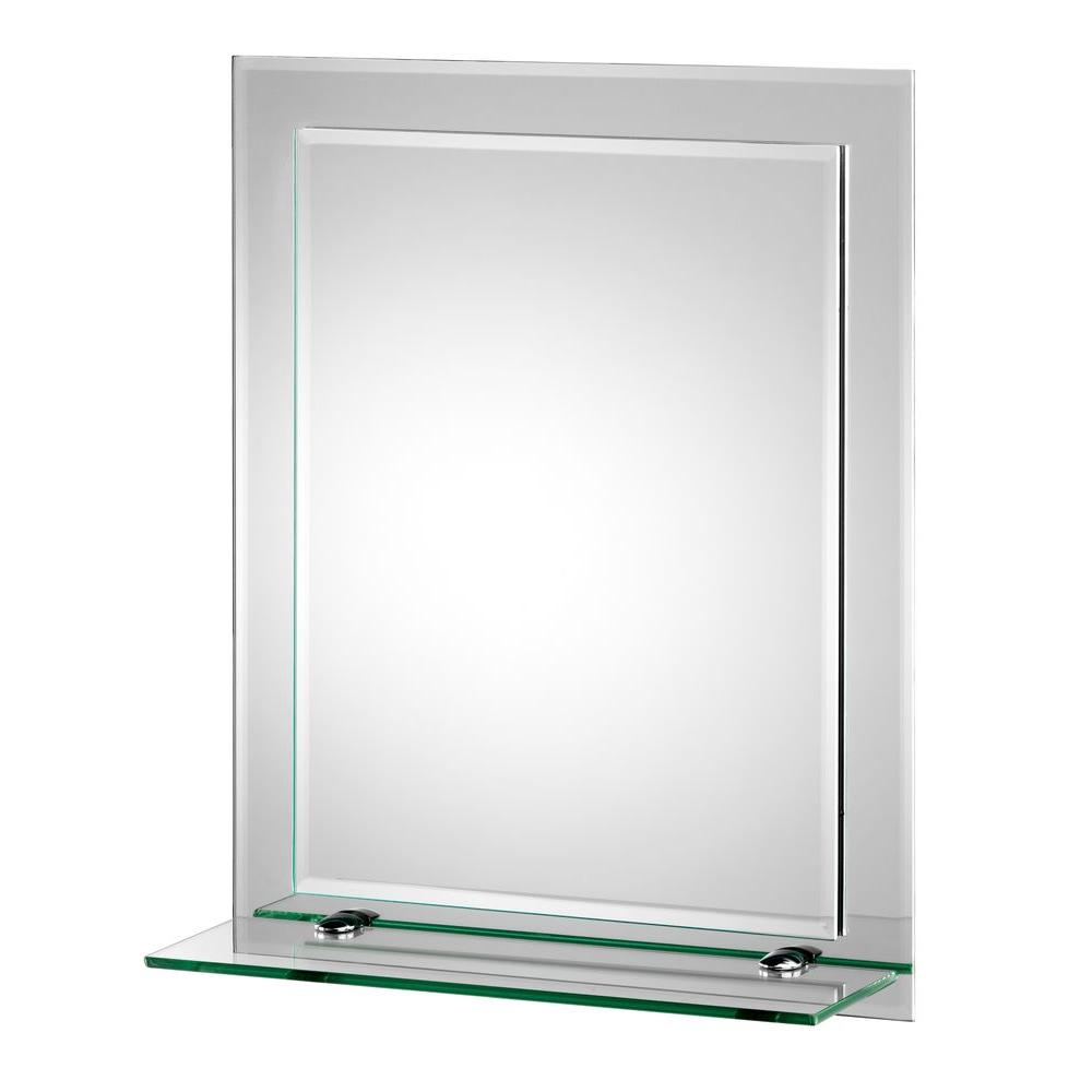 Croydex 16 In W X 20 In H Frameless Rectangular Beveled Edge Bathroom Vanity Mirror Mm700800yw The Home Depot Mirror With Shelf Mirror Wall Bedroom Mirror Wall Bathroom [ 1000 x 1000 Pixel ]
