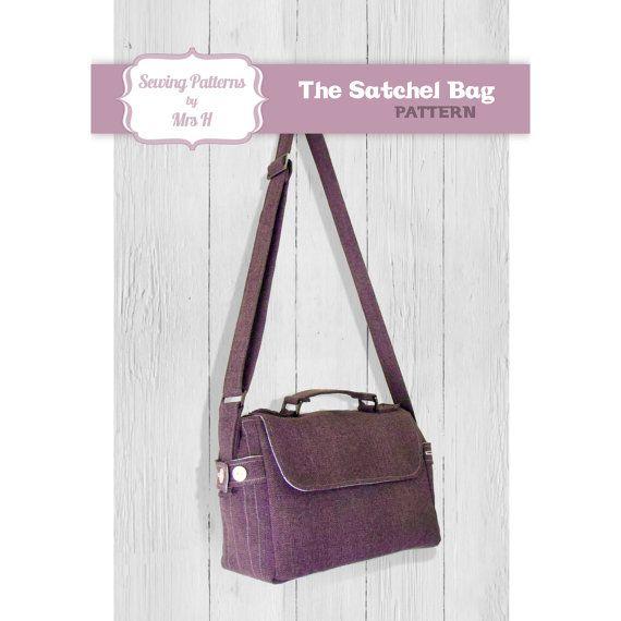 Satchel Bag Pdf Advanced Sewing Pattern By Sewingpatternsbymrsh