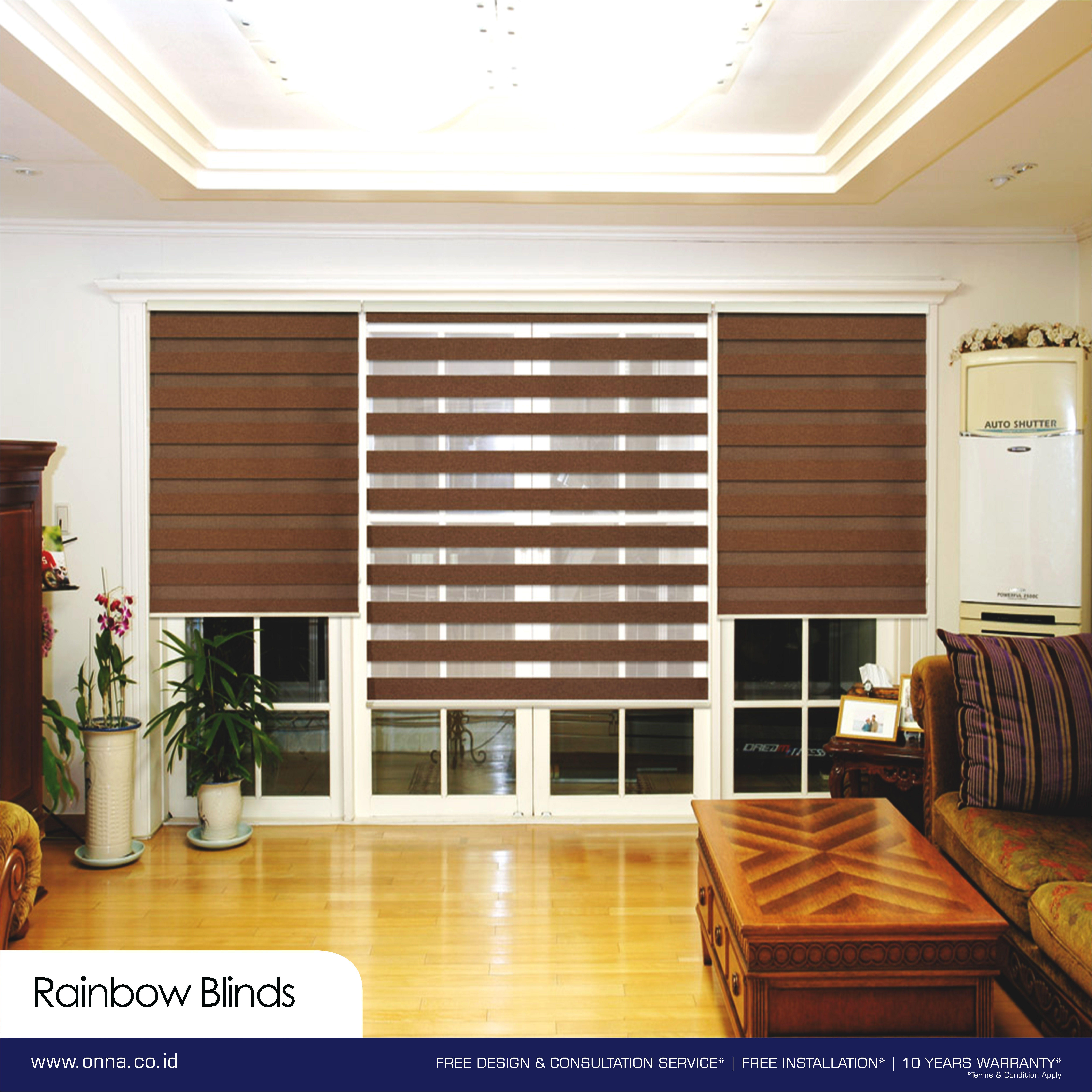 Keunggulan Dari Rainbow Blinds Adalah Dalam Segi Privacy Warna Gelap Dan Terang Pada Rainbow Blinds Memungkinkan Orang Yang Berada Di Blinds House Home Decor