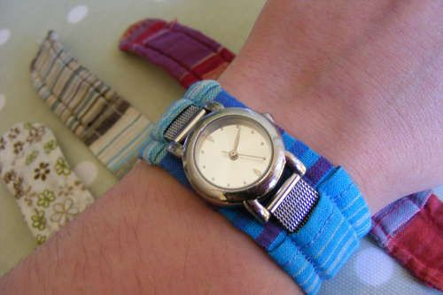 Fabric Watch Strap Cover Diy Watch Band Watch Strap Hand Watch