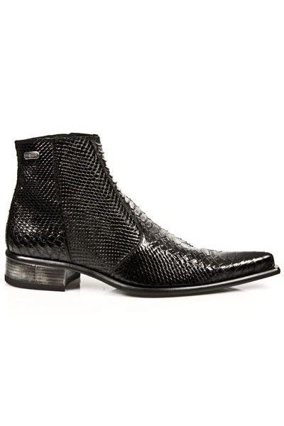 b3ba21a1192d Boots homme serpent noir talon acier