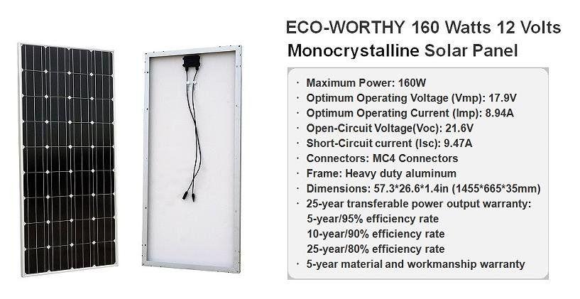 Eco Worthy 1200w Grid Tie Monocrystalline Solar Panel Kit 1200w 24v 110v Review Solar Energy Monocrystalline Solar Panels Solar Panels Diy Solar System