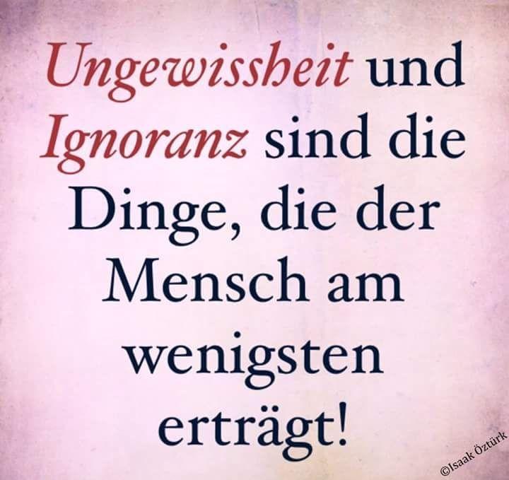 Ungewissheit und Ignoranz... | QUOTES - zum Nachdenken | Pinterest ...
