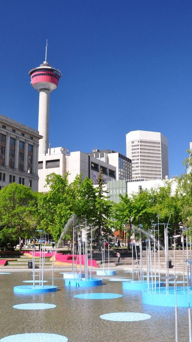 Calgary Tower Olympic Plaza Alberta Canada.I want to go see this place one day.Please check out my website thanks. www.photopix.co.nz