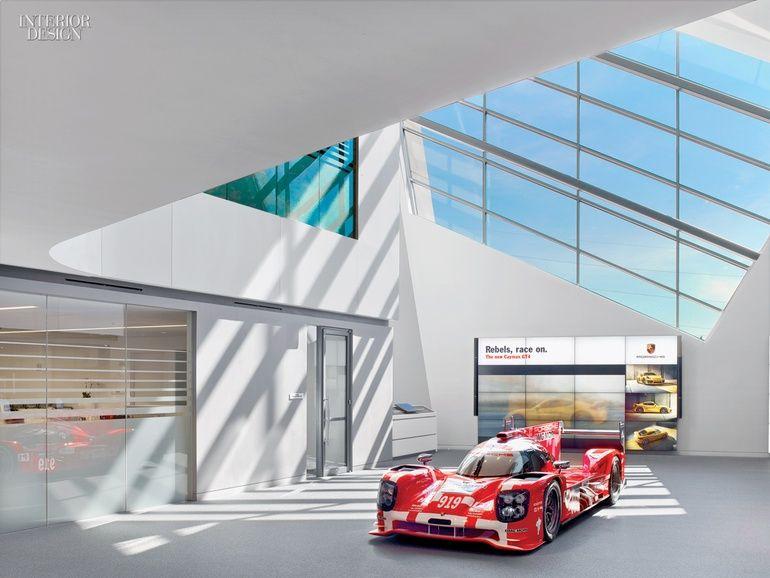 Sculpture in Motion Porsche Experience Center by HOK