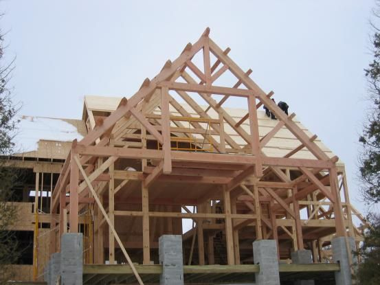 Modified Queen Post Truss With Attic Ideas For The House House Styles Roof Ceiling Home