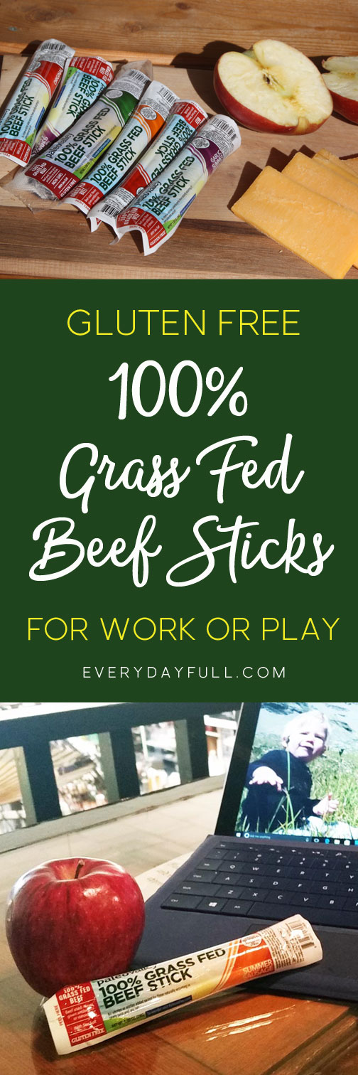 100% Grass-Fed Beef Sticks - These make the perfect grab-and-go snack, are gluten-free, soy-free, dairy-free, contain no GMO's or fillers, and are naturally fermented which means they contain billions of gut-friendly probiotics! With flavors like Garlic Summer Sausage and Jalapeno, how can you go wrong?