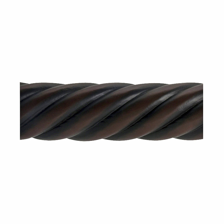Beme International 2 Inch Diameter Twist Wood Drapery Rod 72 Inch