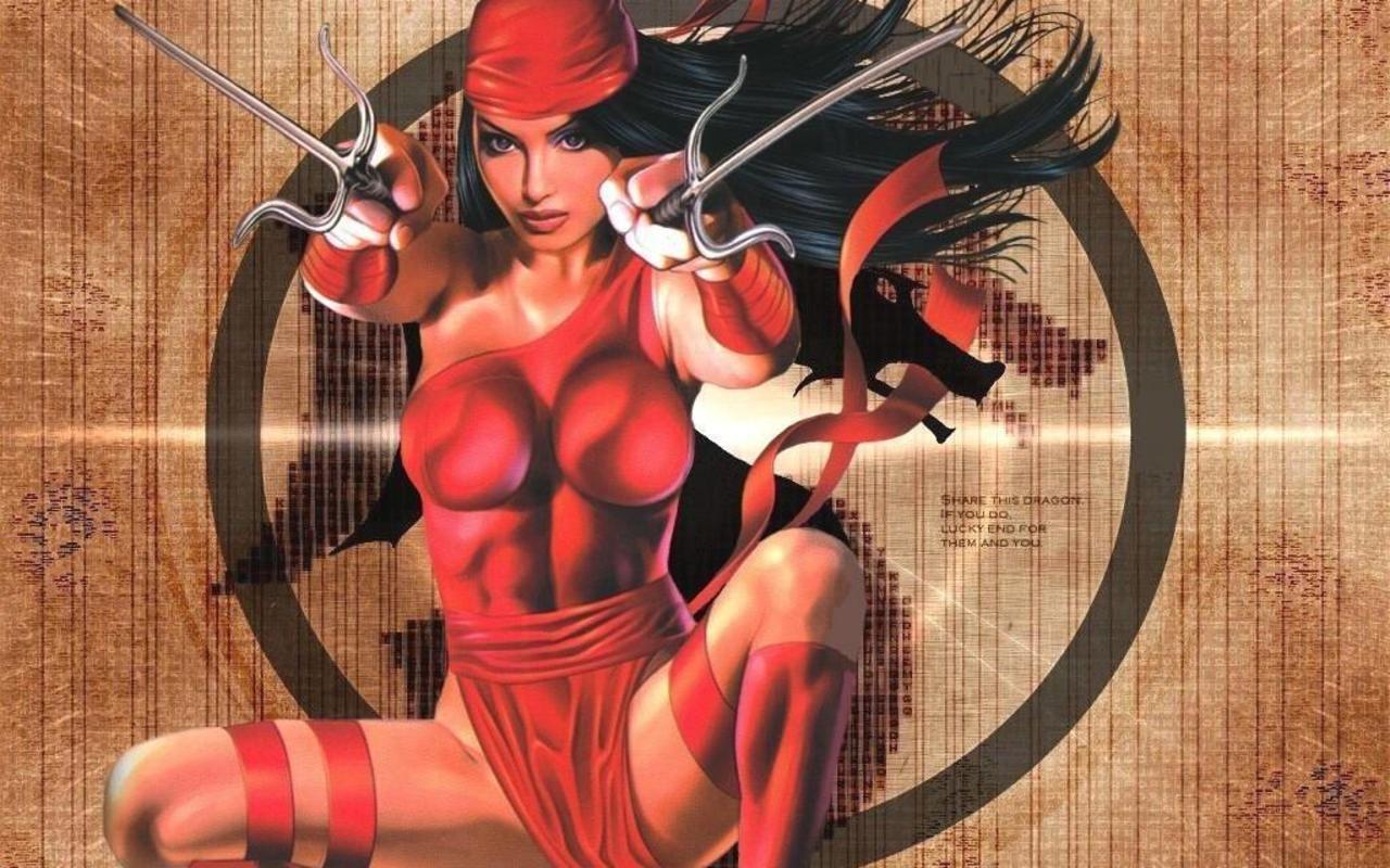 Výsledek obrázku pro SUPERHERO SEXY ART ELEKTRA