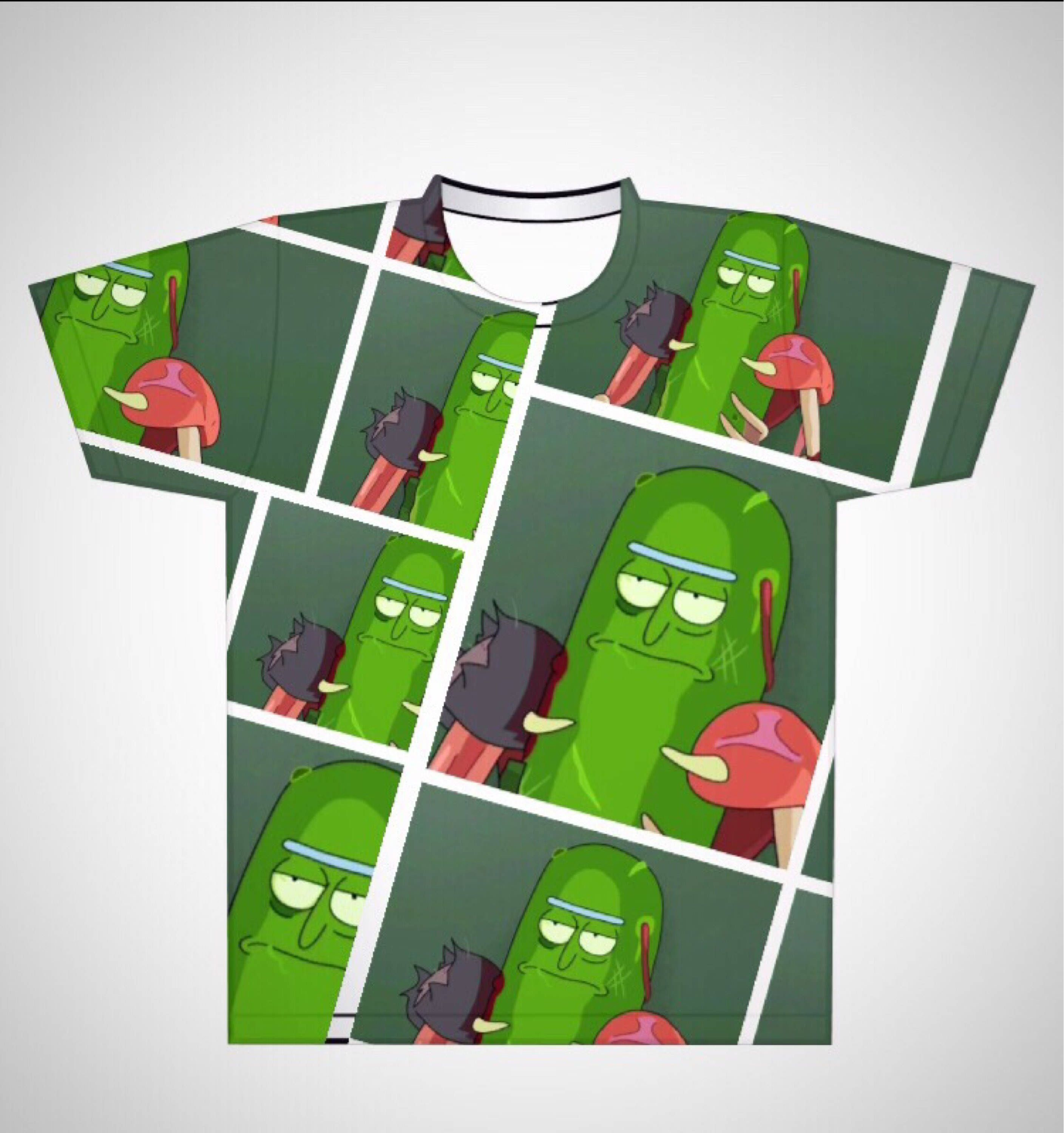 RICK AND MORTY KOSHER PICKLE Official T Shirt Black Mens Licensed Merch New