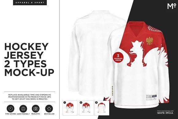Download Hockey Jersey 2 Types Mock-up | Shirt mockup, Mockup ...