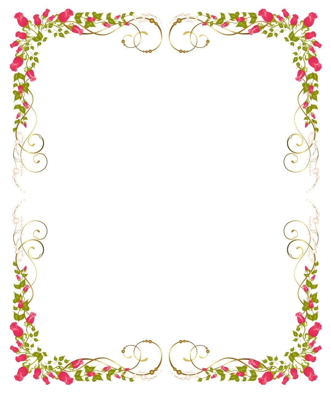 Flower background frame 09 vector eps free download logo for Wedding invitation page borders free download