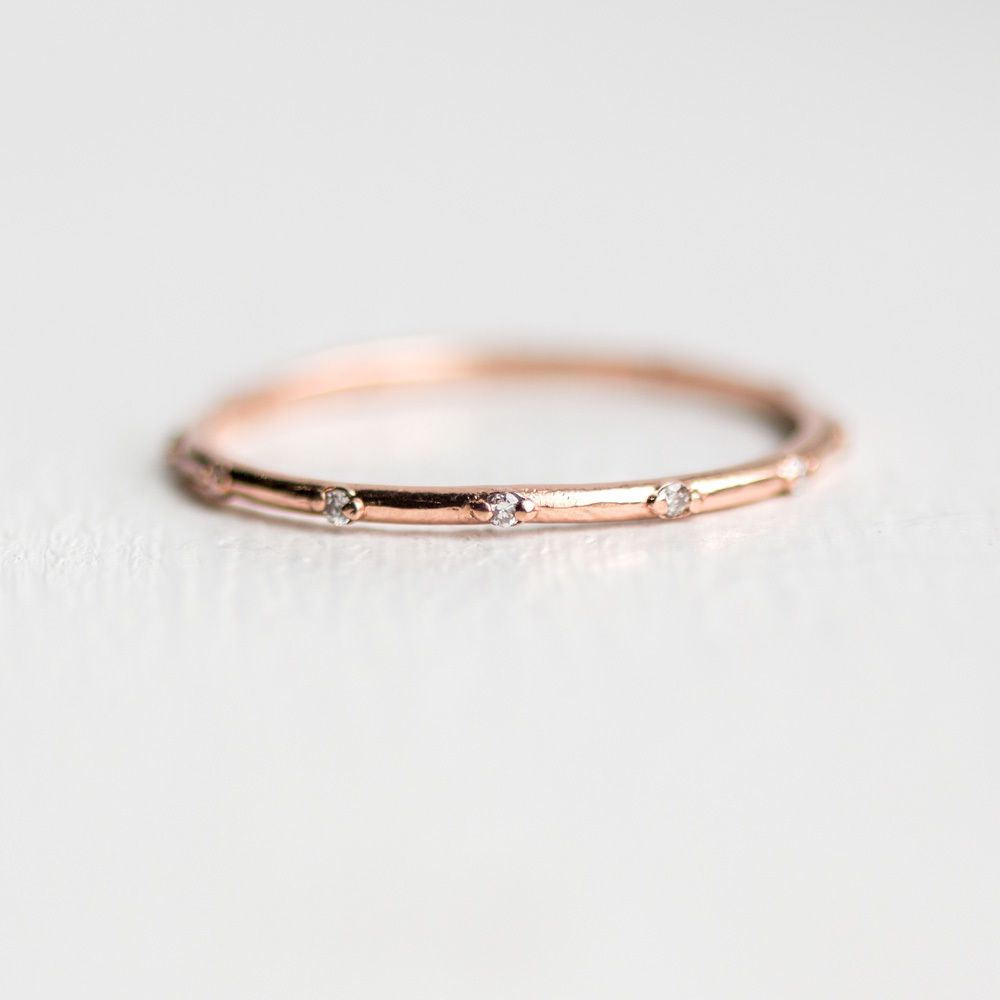 gold bands full unique thin beautiful size download rose rings band white wedding