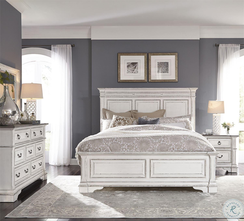 Abbey Park Antique White Panel Bedroom Set in 2020 White