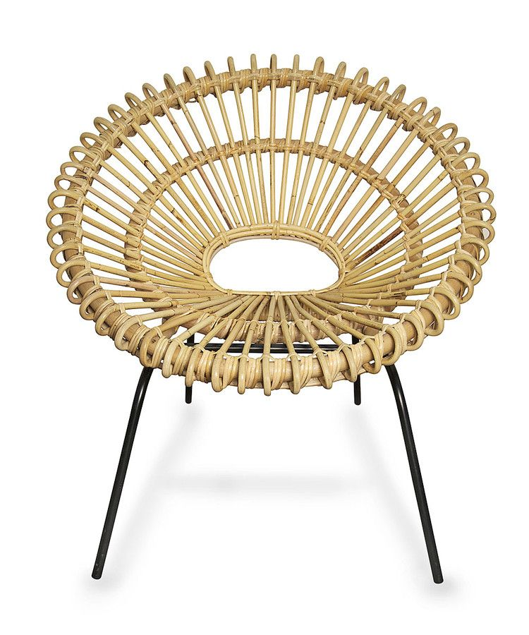 570 Scoop Chair With Metal Feet Chair Woven Chair