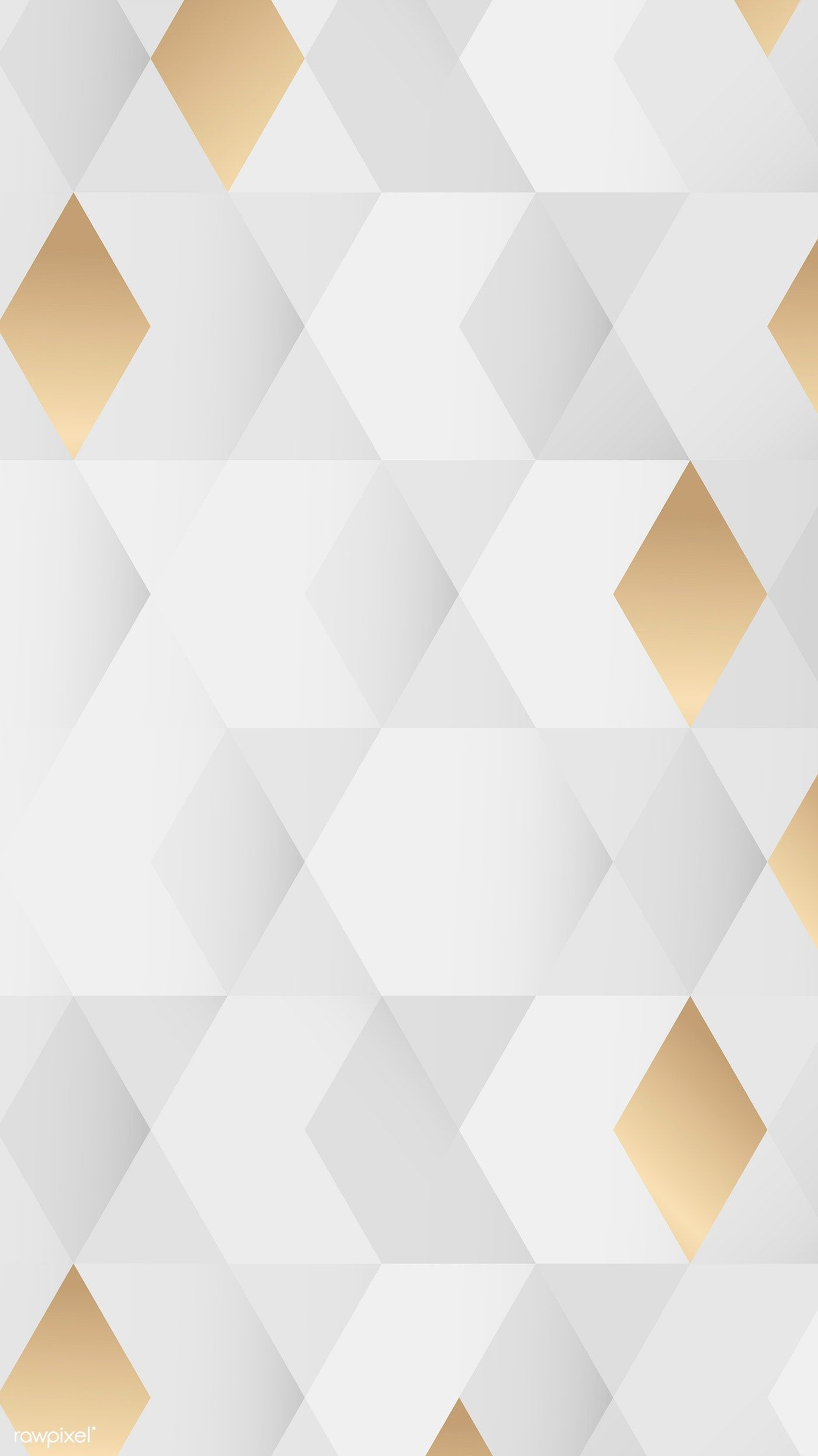 Download Premium Vector Of White And Gold Geometric Pattern