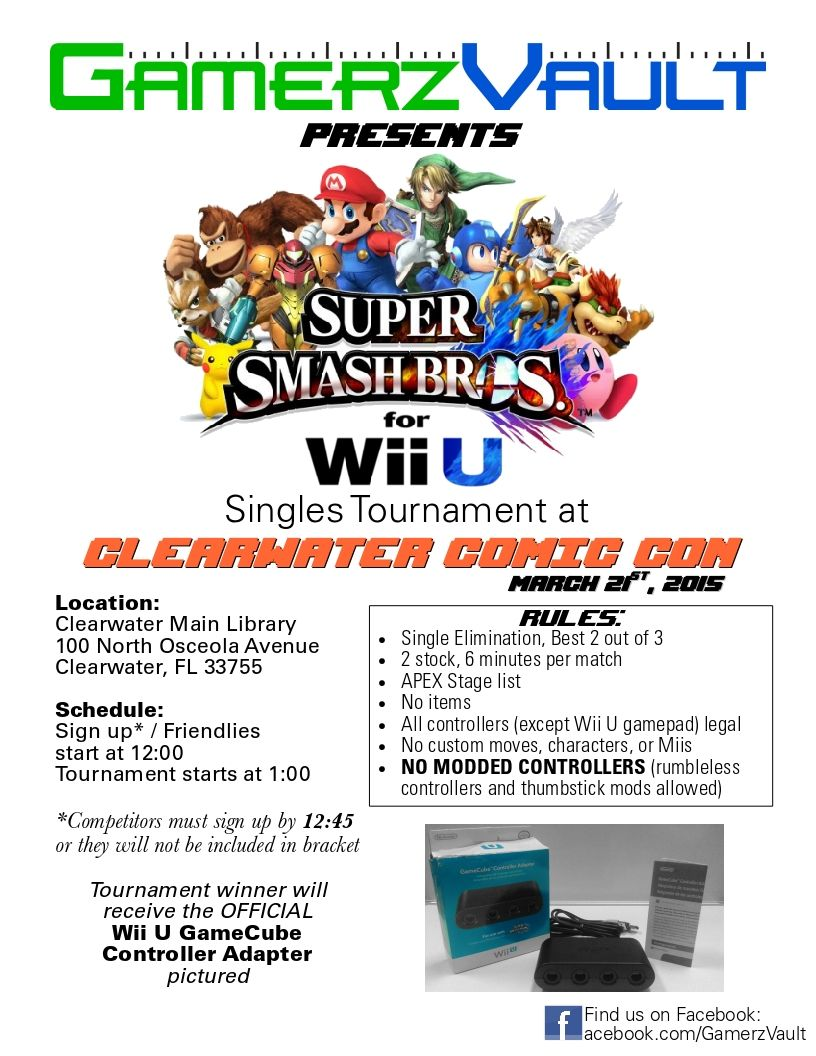 Be There! Gamerz Vault Super Smash Bros 4 Tournament - Grand Prize