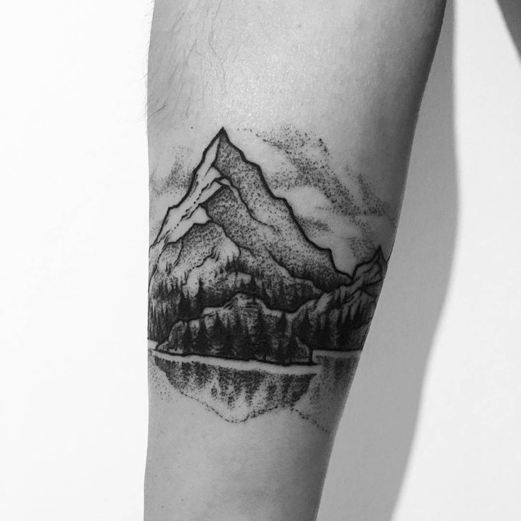 Image Result For Cuff Tattoos For Women: Image Result For Trees With Mountains Tattoo #boulderinn