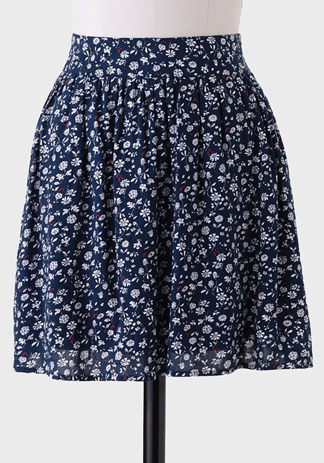 Charming Warm Weather Vintage Inspired Frocks Featuring: Prospect Park Floral Skirt At #Ruche @Ruche