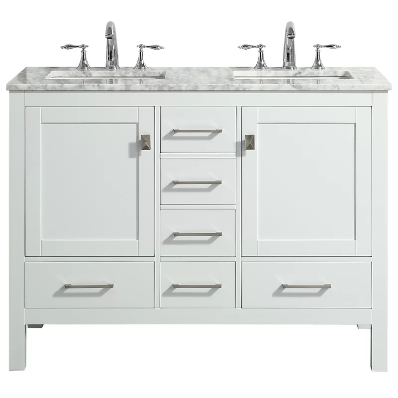 Furlow 48 Double Bathroom Vanity Set In 2020 White Vanity