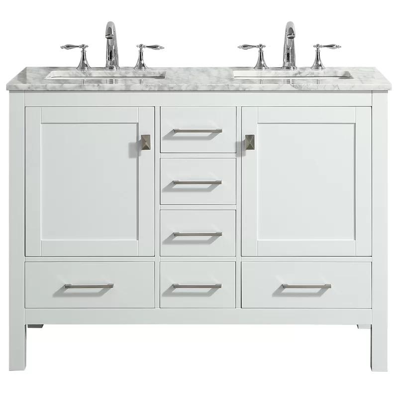 Furlow 48 Double Bathroom Vanity Set In 2020 White Vanity Bathroom Vanity Bathroom Sink Vanity