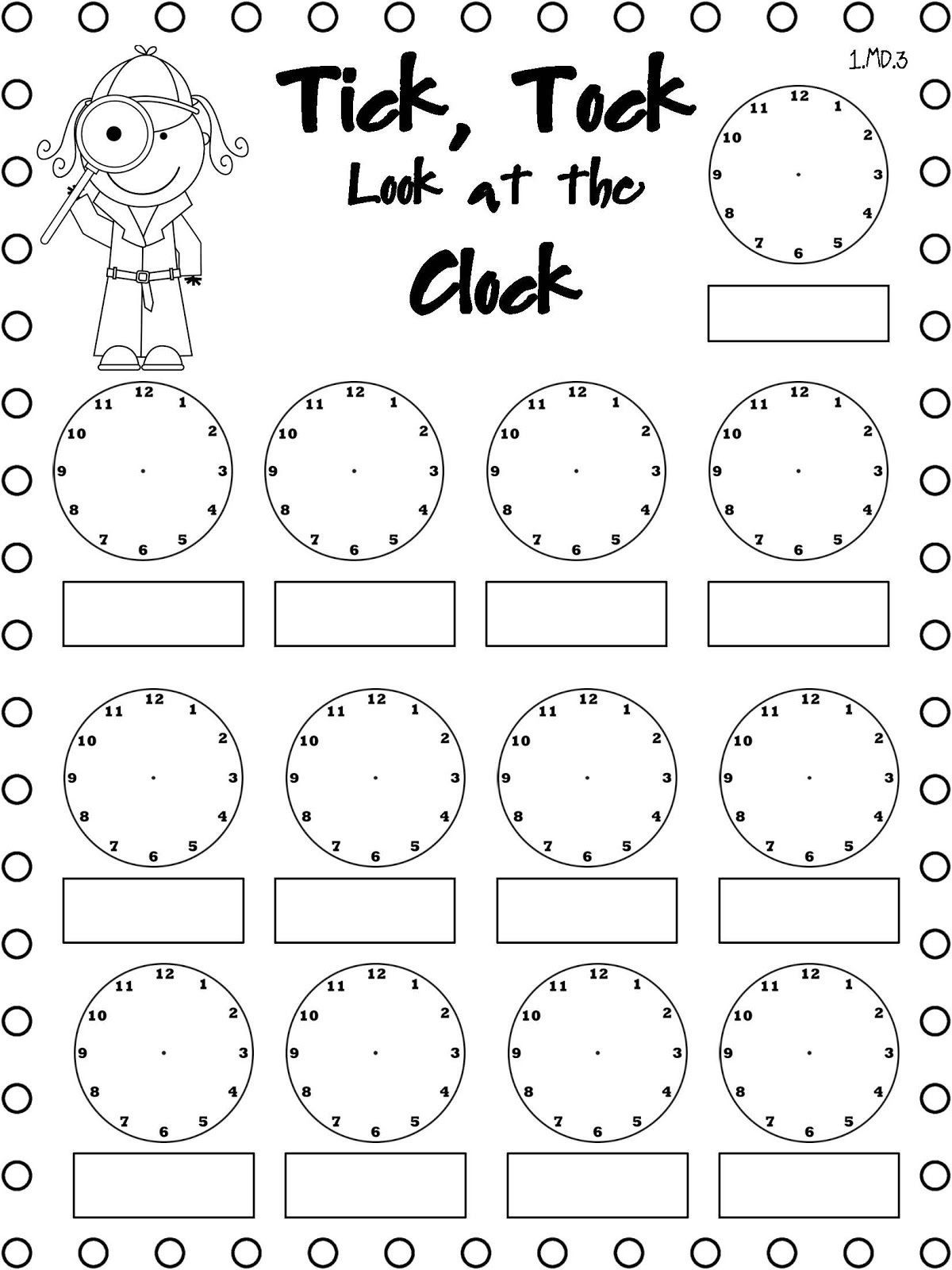 15 Preschool Clock Worksheet Coloring Style Worksheets