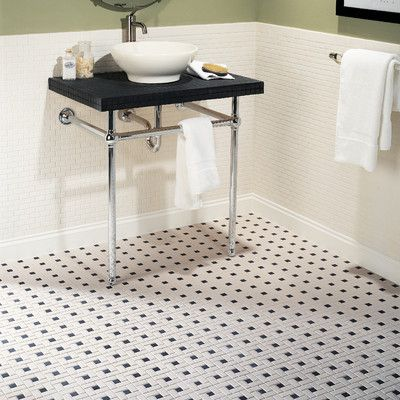 Daltile Keystones Blends 1 X 2 Windmill Mosaic Tile In Biscuit Black For The Re Black And White Bathroom Floor White Bathroom Tiles White Mosaic Floor Tile