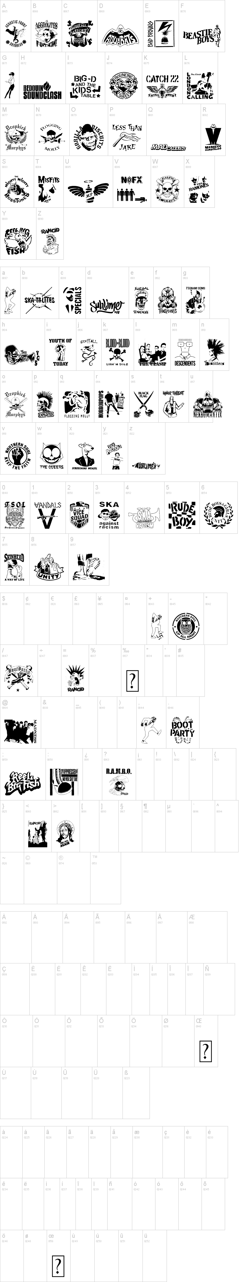 Stencil punks band logos the good word of punk diy pinterest
