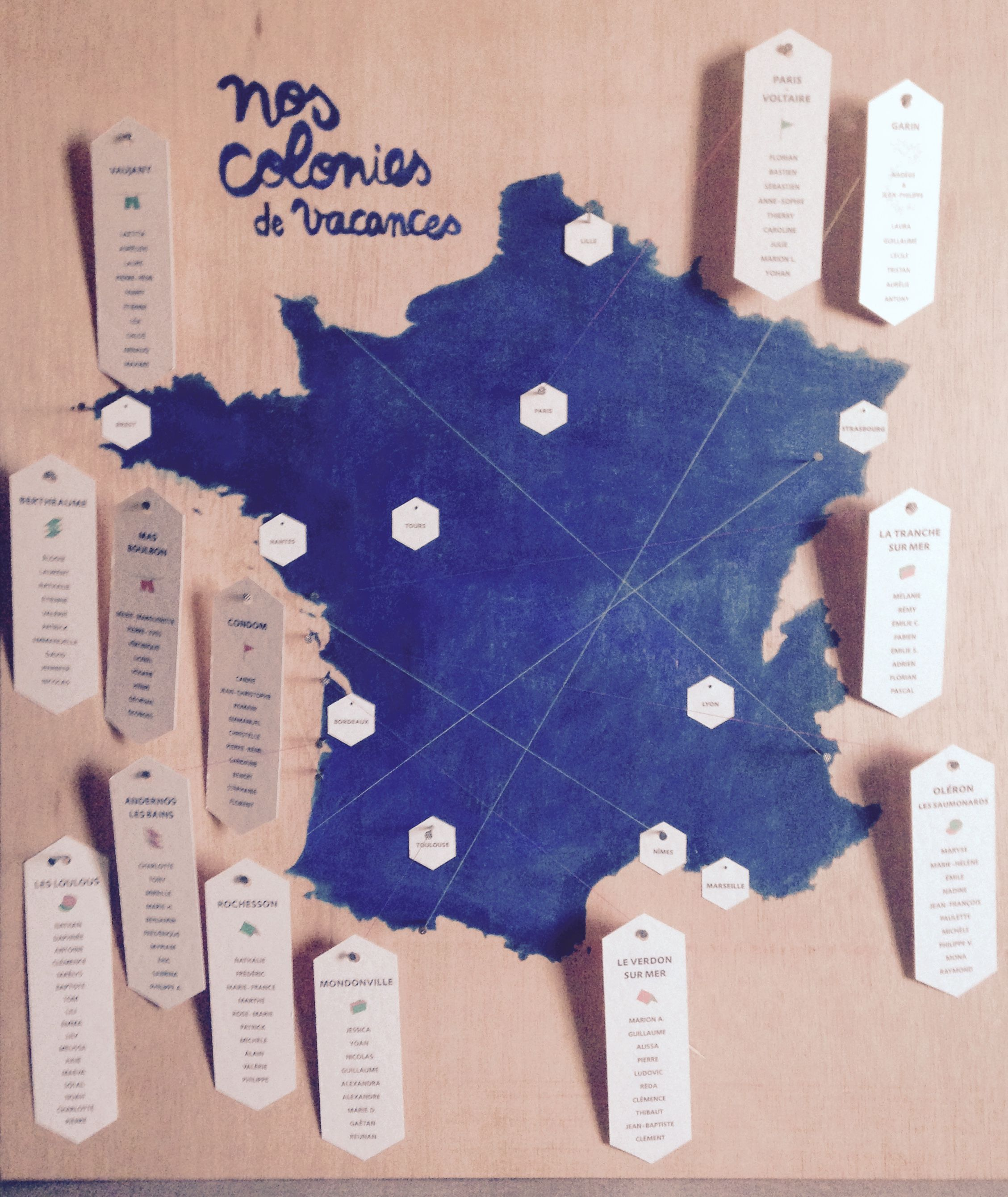 Plan De Table Carte De France