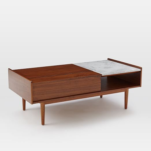 Mid Century Pop Up Storage Coffee Table Coffee Table With