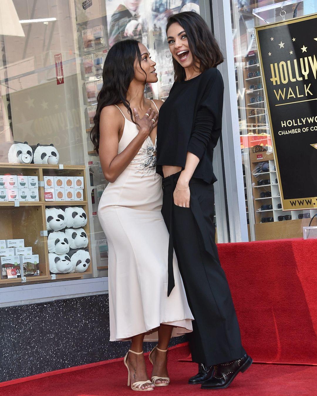 cd8754d50d476 This friendship ❤ #MilaKunis #zoesaldana | Mila Kunis in 2019 ...
