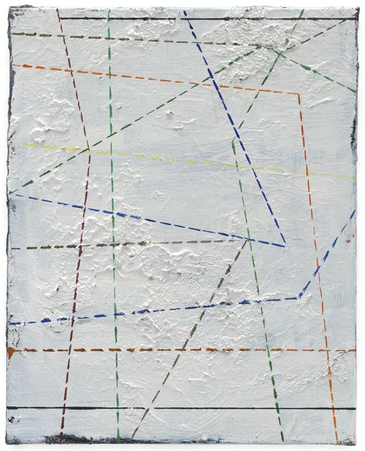 Philippe Vandenberg, No title, 1996—2003. Oil on canvas, 50 x 40 x 2.5 cm / 19 5/8 x 15 3/4 x 1 in. © Estate Philippe Vandenberg. Courtesy Hauser & Wirth. Photo: Stefan Altenburger Photography Zürich.