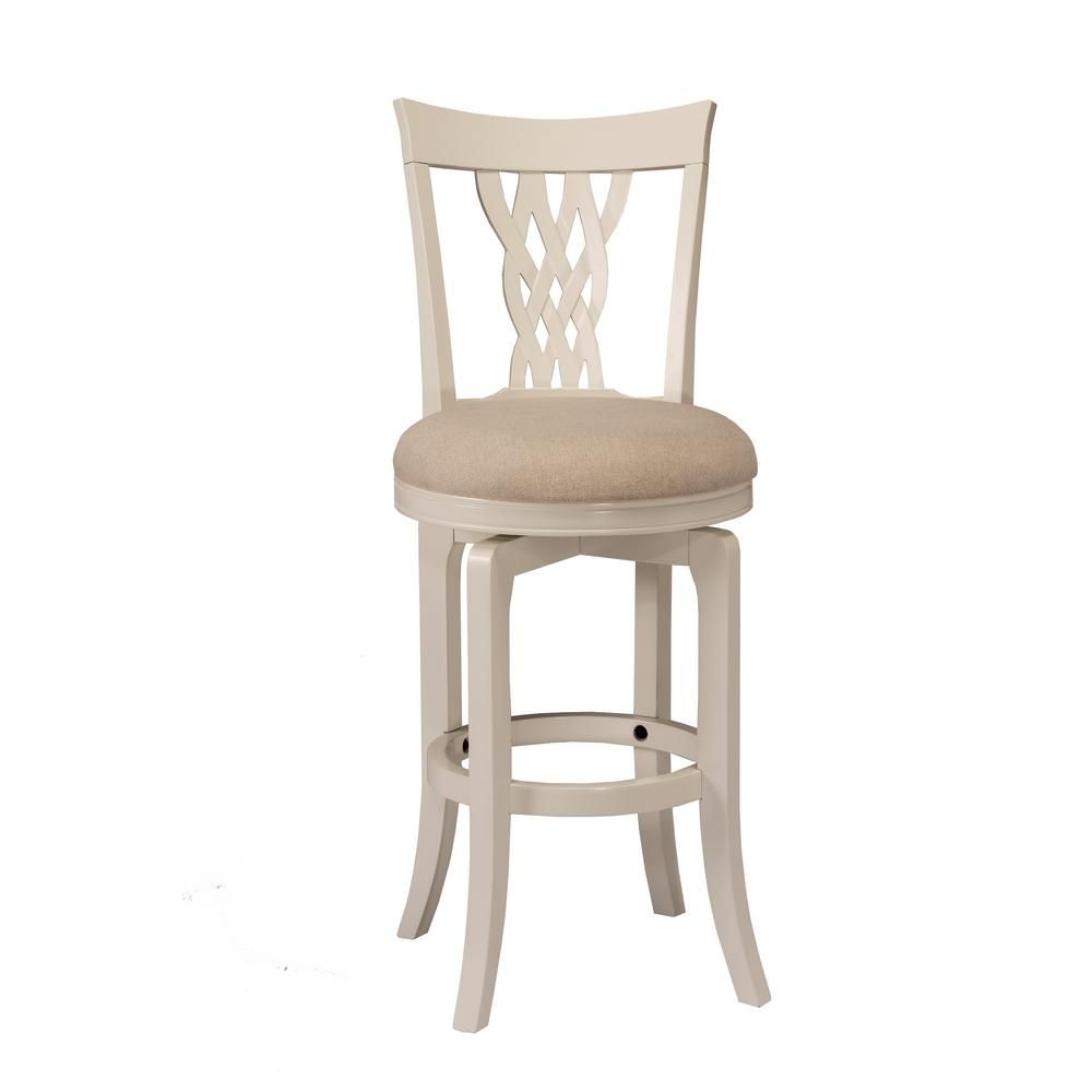 Hillsdale Furniture Embassy 30 In White Swivel Bar Stool Swivel