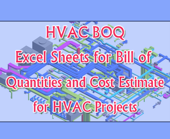 Download HVAC BOQ - Bill of Quantities and Cost Estimate for