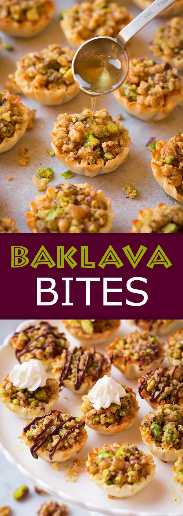 Baklava Bites - Easier and quicker than the traditional baklava but just as delicious!