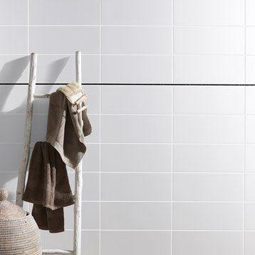 Faïence mur blanc, Basic l20 x L50 cm pegate una ducha Pinterest - Leroy Merlin Faience Cuisine