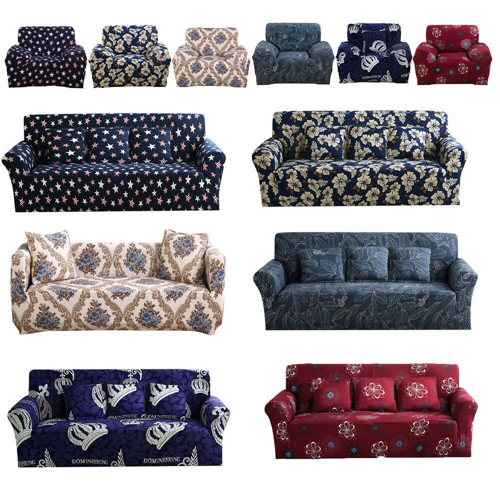 1 2 3 4 Seater Elastic Sofa Cover Slipcover Set Couch Stretch Chair Sofa Cover Sofa Slipcover Ideas Of Sofa Slipco In 2020 Sofa Covers Slipcovered Sofa Ikea Sofa