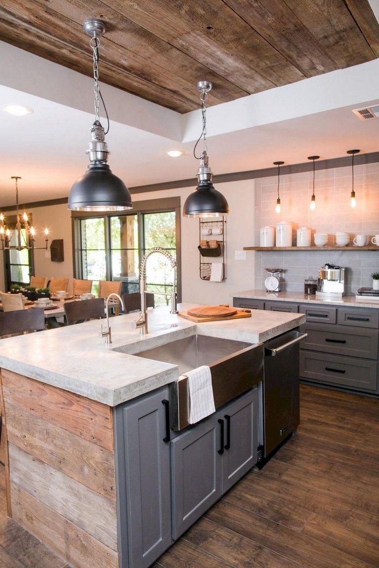 marvellous modern industrial kitchen ideas | 58+ Marvelous Rustic Kitchen Decorating Ideas | Modern ...
